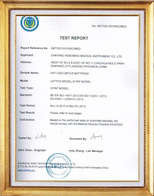 Mattress inspection report